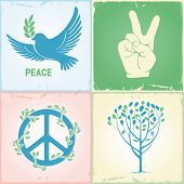 foto of v-day  - Set of symbols for the International Day of Peace - JPG