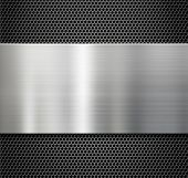 steel metal plate over comb grate background