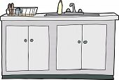 Isolated Kitchen Sink