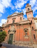 picture of tomas  - Valencia Santo Tomas church in plaza san Vicente Ferrer with fountain at Spain - JPG
