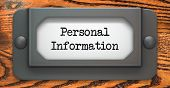 Personal Information - Concept on Label Holder.