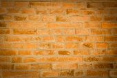 Red Brick Wall Texture Background With Vignetted Corners To Interior Design