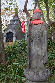 Jizo at Great Buddha Hill at Ueno Park in Tokyo