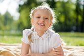 Girl enjoying summertime