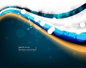 eps10 vector elegant blue wave concept business background