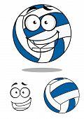 Happy cartoon volley ball