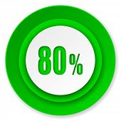 80 percent icon, sale sign