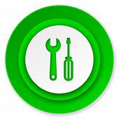 tools icon, service sign
