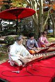 Japanese women playing the koto