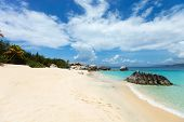 picture of virginity  - Beautiful tropical beach with white sand - JPG