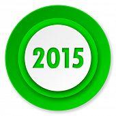 new year 2015 icon, new years symbol