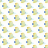 Sea fish seamless pattern.
