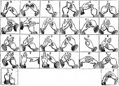 picture of hand alphabet  - Two - JPG