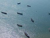 Fishing boats on the sea