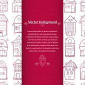 Houses vector background with pace for text