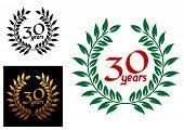 30 years anniversary laurel wreaths
