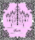 Vintage Invitation Card With Elegant Ornate Design