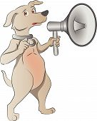 Dog With Megaphone, Illustration