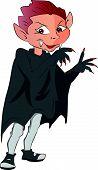 Boy In A Vampire Costume, Illustration