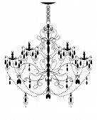 Vintage Chandelier Element With Ornate Elegant Abstract Design