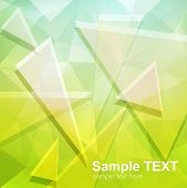 Green abstract background, vector illustration.
