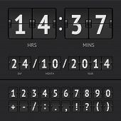 picture of countdown timer  - Vector illustration of countdown timer and scoreboard numbers - JPG