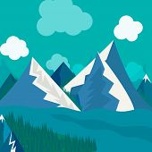 natural landscape in the style of flat