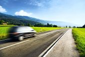 stock photo of road trip  - Mountains travel - JPG