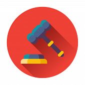 gavel with stand icon