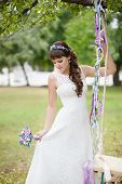 Beautiful bride and swings