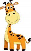 Cute Orange Giraffe, Illustration