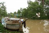 Old Boat in Mekong Delta