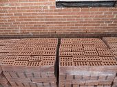 Brick Pallets and Brick Ball on Building Site