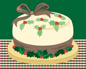 Christmas Holly Cake