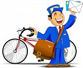 Postman And Bicycle