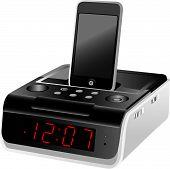 Docking Station Alarm Clock