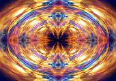 Abstract Orange Light Pattern
