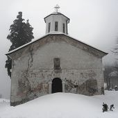 Old Church In Expectation Of Christmas Eve