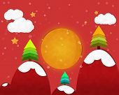 Full Moon In Christmas Night