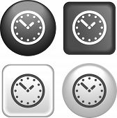 Clock Icon On Buttons Collection