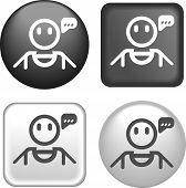 Speaking Person Icon On Buttons Collection
