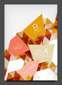 Flyer template. Modern business geometric abstract background