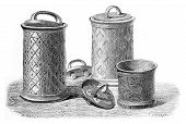 Bushel Of Solovetsky Monastery, Vintage Engraving.