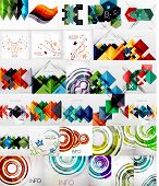 Set of Vector Abstract Backgrounds, Brochures or Flyer Templates