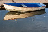 Small Boat Reflections Water