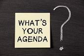 What's Your Agenda ?