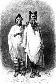 Women Upper Senegal, Vintage Engraving.
