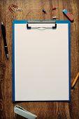 Blank White Standard A4 Sheet In A Clip Folder