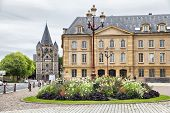 image of comedy  - Place de la Comedie in front of Opera building in Metz France - JPG