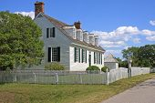 image of virginia  - old colonial houses in Yorktown - JPG